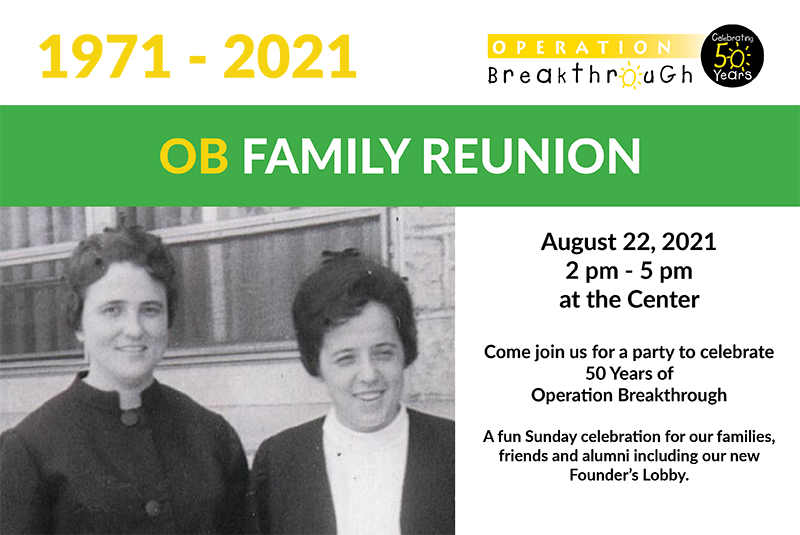 Save The Date For Ob Family Reunion 2